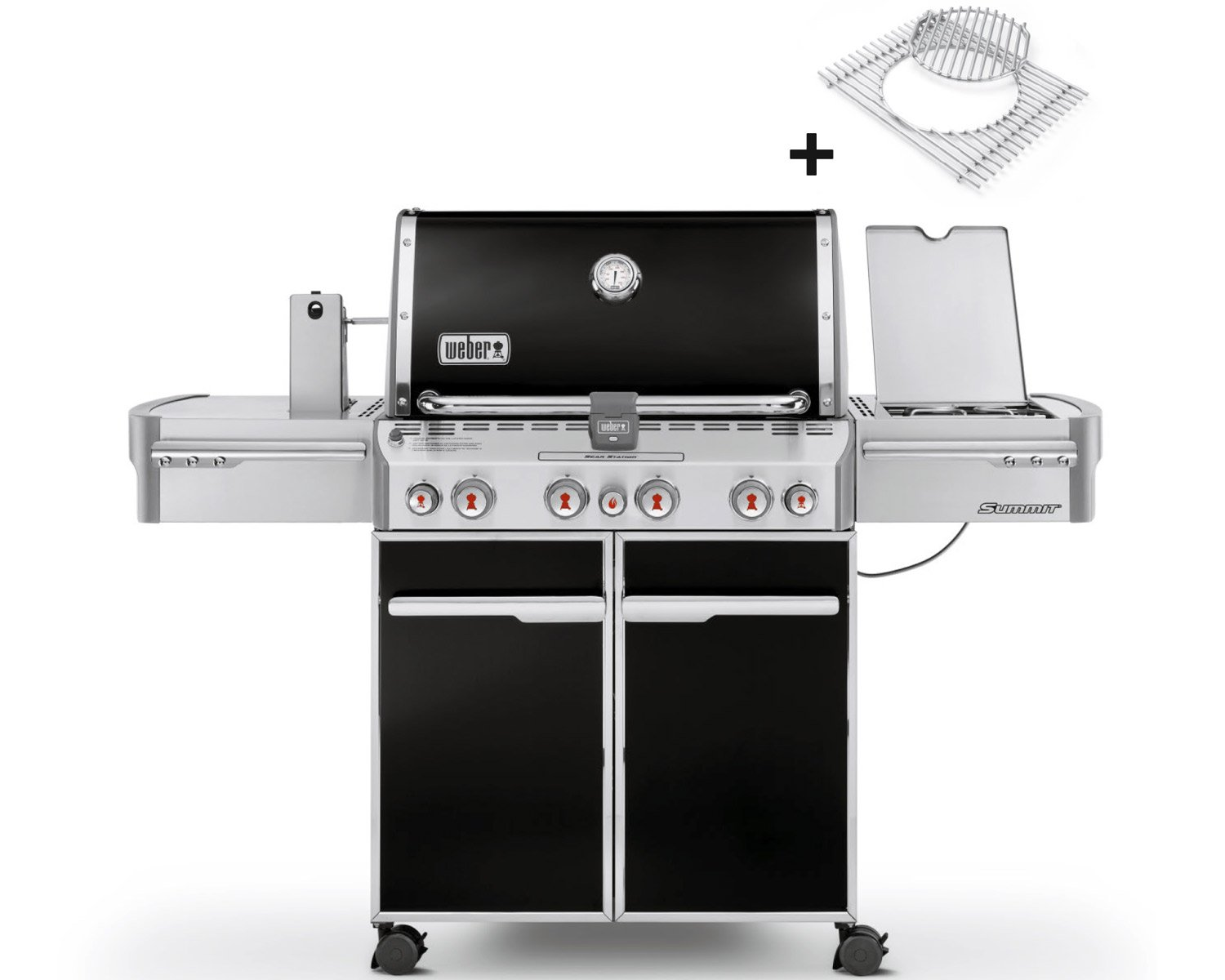 Outdoorküche Weber Q1200 : Weber gasgrill summit e black amazon garten