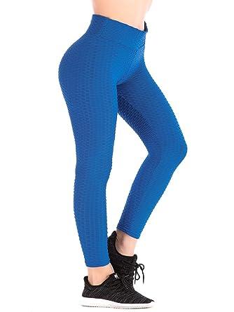 5b1eabf255e32e DODOING Womens Ruched Butt Lifting High Waist Leggings Tummy Control  Stretchy Skinny Yoga Pants Thights