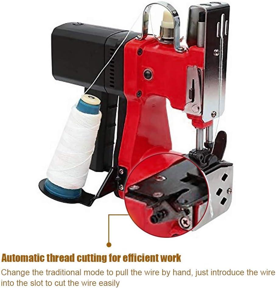 HUKOER Máquina de cierre de bolsas rojas Máquina de coser portátil Máquina cosedora de bolsas Bolsa de embalaje eléctrica Sellado de costura: Amazon.es: Bricolaje y herramientas