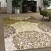 Superiors Designer Non-slip Hedena Area Rug; Digitally Printed, Low Maintenance, Affordable and Fashionable, Multi-Color - 5 x 8