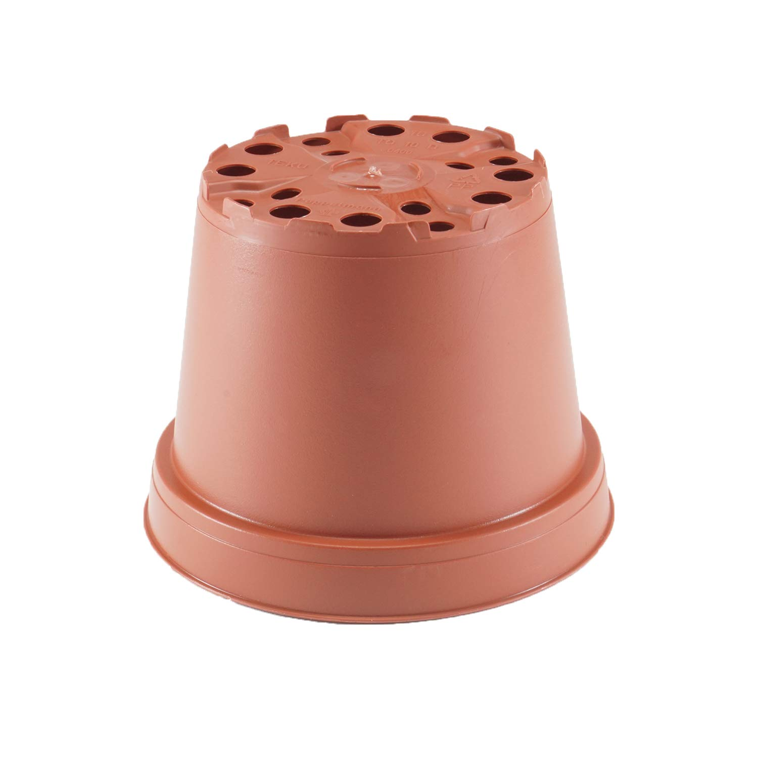 25 Pots Succulents The Hydroponic City 4 Round Terracotta Plastic Flower Pots for Starting Seedlings + 5 THCity Stakes or Cacti