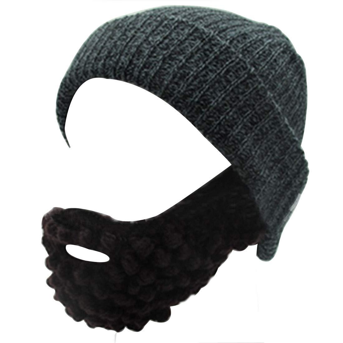 e38ecf13fd8 Lerben Men Women Beard Hats Warm Winter Knitted Beanie Caps Ski Hat ...