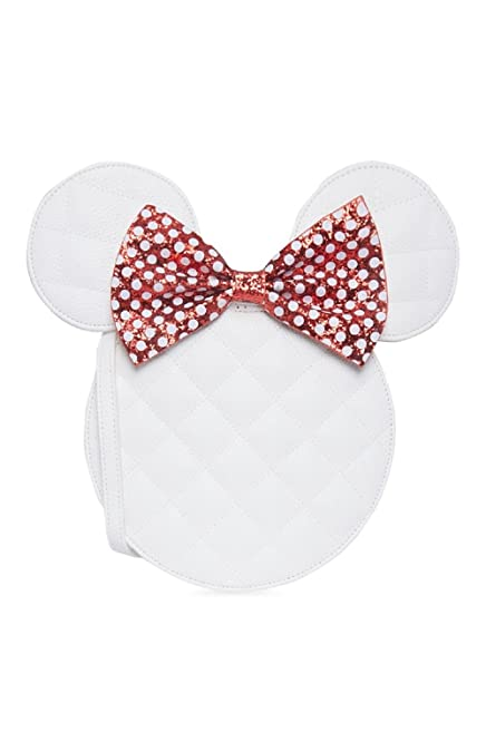 6d954e71e White Disney Primark Minnie Mouse Bag Faux Leather Bag BNWT Glitter Bow Ears  red: Amazon.co.uk: Shoes & Bags