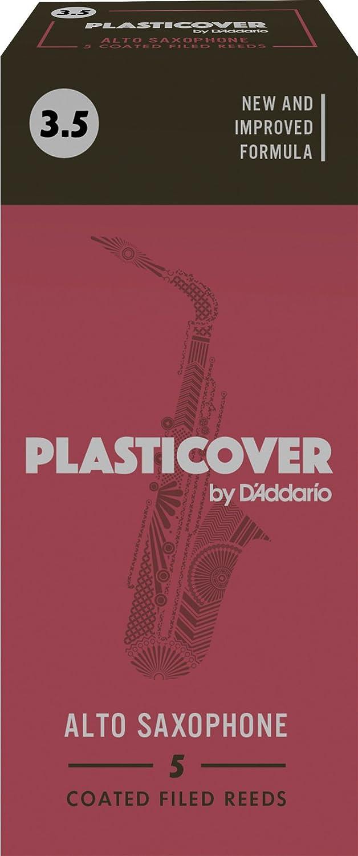 Rico Plasticover Alto Sax Reeds, Strength 1.0, 5-pack,RRP05ASX100