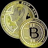 The Golden Guardian Limited Edition Collectible Souvenir Gold Plated Bitcoin Coin by Blinkee