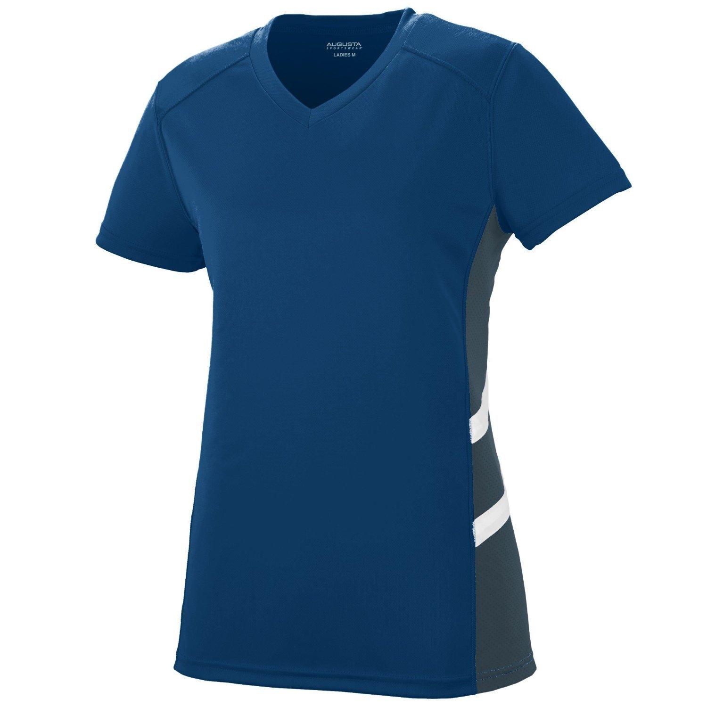Augusta SportswearレディースOblique Jersey B010ZIBN0W xx-large|Navy/Slate/White Navy/Slate/White xx-large