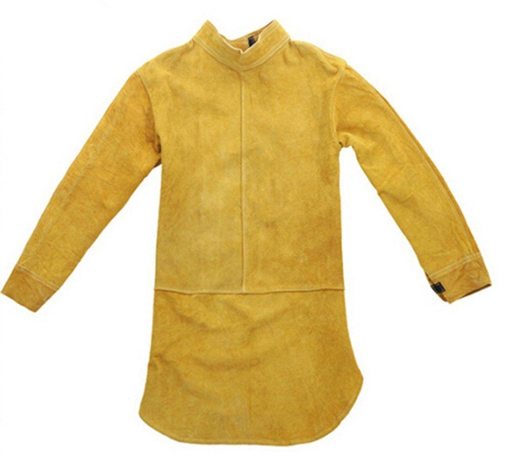 Babimax Delantal de Soldadura de Cuero Amarillo Delantal de Split Weld: Amazon.es: Hogar