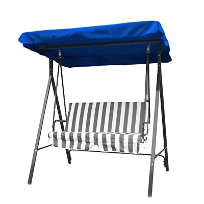 dDanke Patio Swing Canopy Replacement Top Cover UV Block Sun Shade Waterproof for 2 Seat Swing Chair Navy Blue : Garden & Outdoor