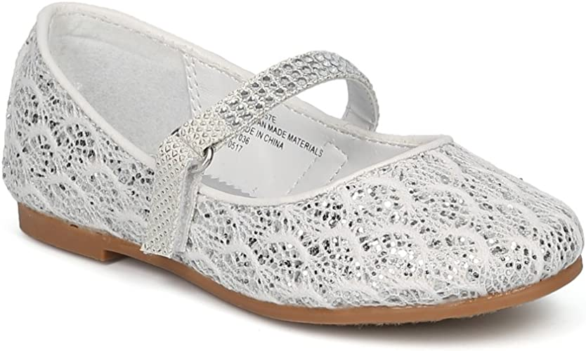 Brand New Girl/'s Fashion Rhinestone Flats Shoes Size 9-4