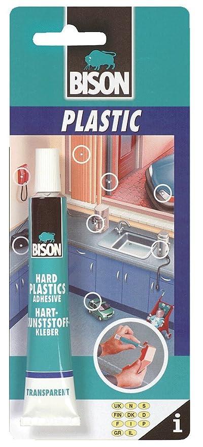 12 x 6305315 Bison rígido de reparación pegamento vinilo plástico 25 ml extrafuerte resistente al agua