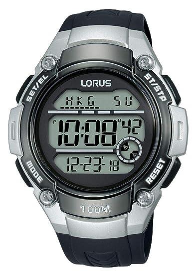 Lorus Reloj Digital para Hombre de Cuarzo con Correa en Silicona R2331MX9: Amazon.es: Relojes