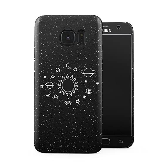 Space Stars Galaxy Cute Sun Solar System Tumblr Planets Plastic Phone Snap On Back Case Cover Shell For Samsung Galaxy S7