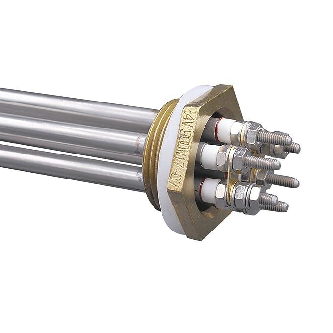 Aiicioo 24v 900w Elemento de Calefacción Material de Acero Inoxidable Grado Alimenticio Resistencia para Calentador 1.25