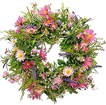 Props4shows artificial flower wreath pink amazon kitchen props4shows artificial flower wreath pink amazon kitchen home mightylinksfo