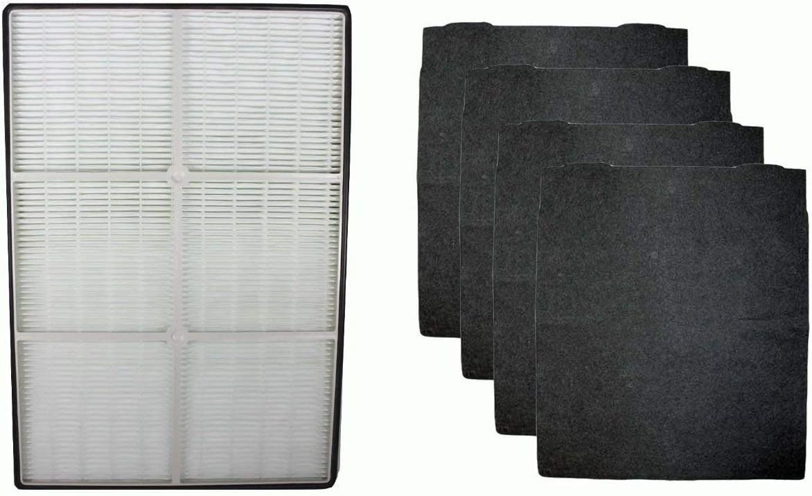 AF Compatible Replacement HEPA Air Purifier Filter & 4 Carbon Filters Fit Whirlpool AP250 & AP150 Part # 1183051K
