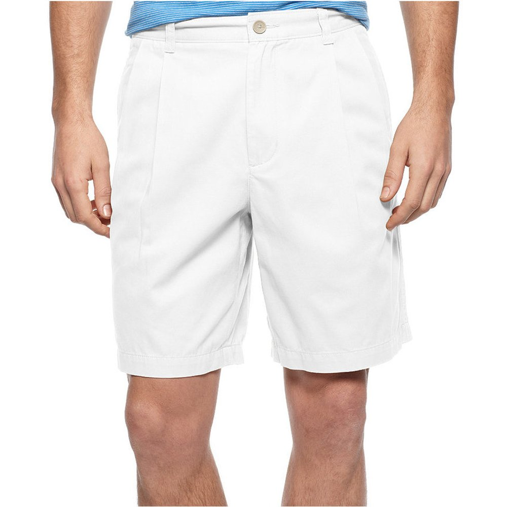 Club Room Core Double Pleated 9 Twill Shorts