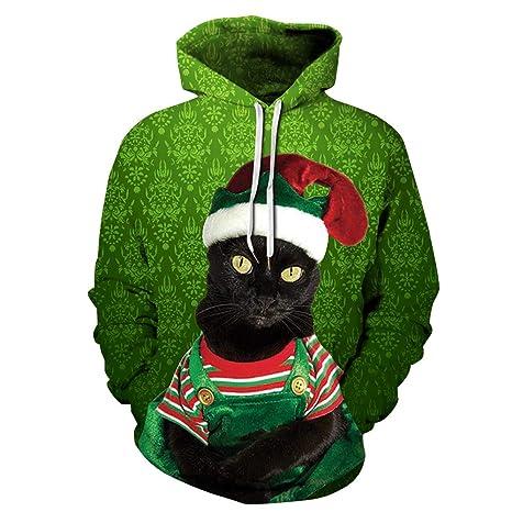 Jojo Christmas Sweater.Amazon Com Jojo Christmas Hoodie Sweater Black Cat