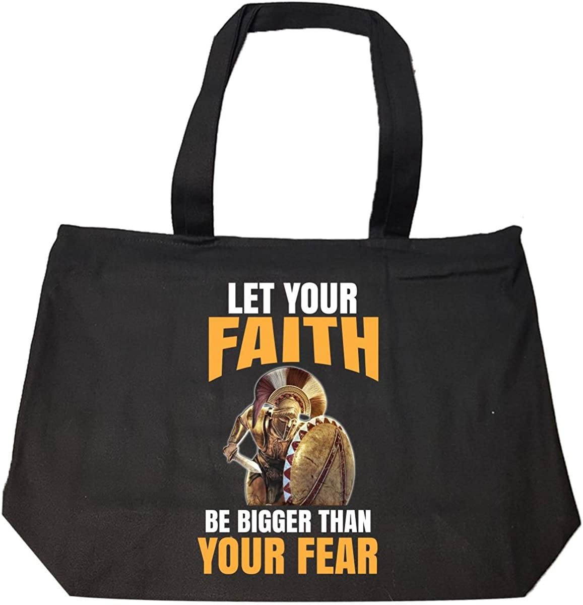 Let Your Faith Be Bigger Than Your Fear Tote Bag With Zip
