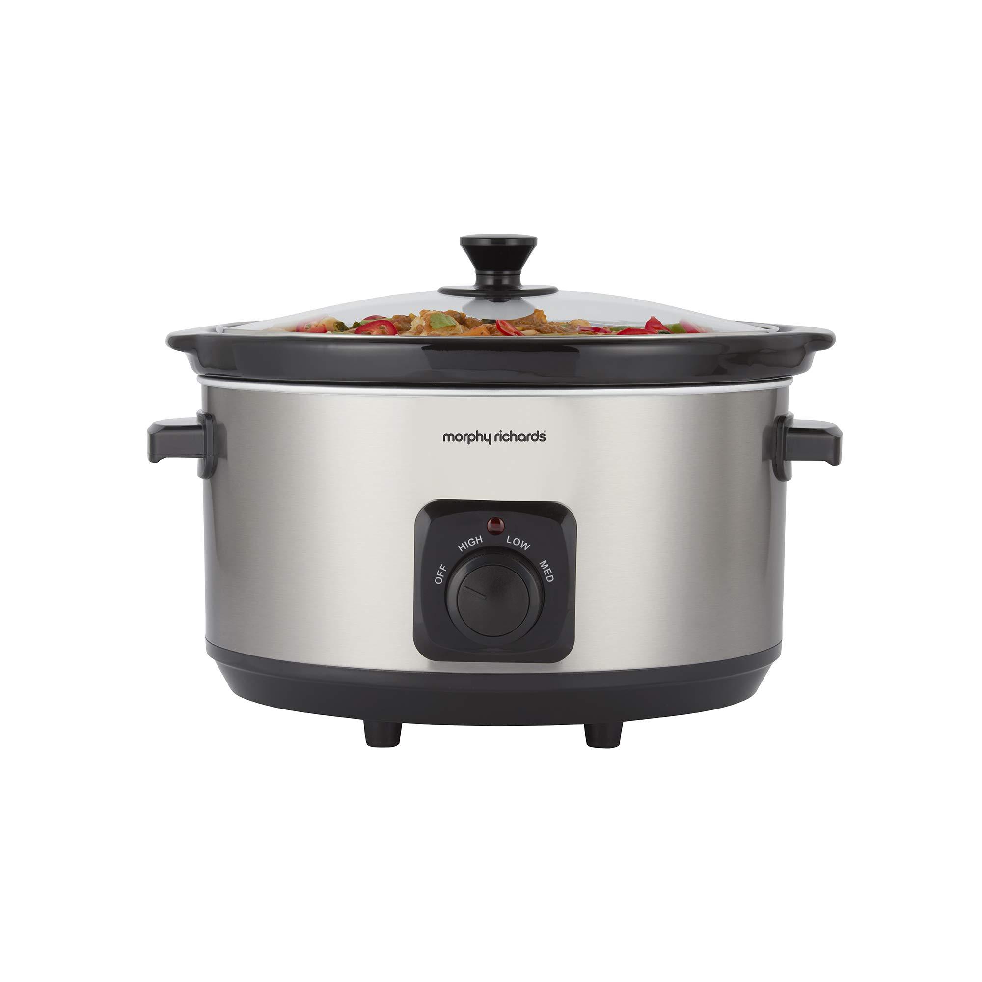 Morphy Richards 461013 6.5 Litre Ceramic Slow Cooker, One-Pot Solution