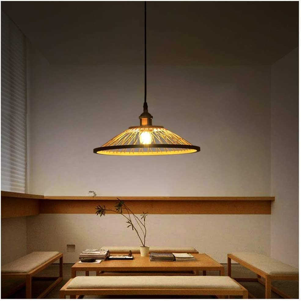 Chandelier Restaurant Small Pendant Light Creative New Chinese Bar Table Lamp Tea Room Lamp Bedside Ceiling Lighting Single Head Bamboo Zen Lantern Chandelier Amazon Com
