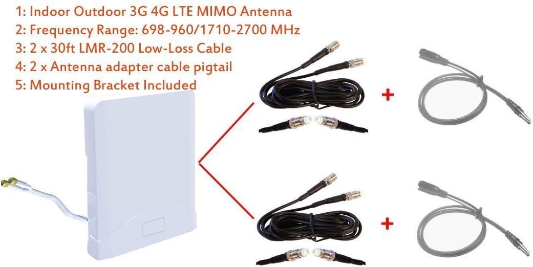 Antena MIMO 3G 4G LTE para interiores y exteriores de banda ...