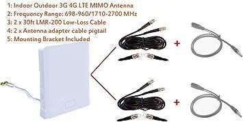 3G 4G LTE Interior Exterior Banda ancha Antena MIMO para ...