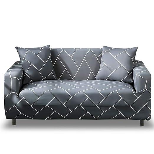 HOTNIU Funda Elástica de Sofá Funda Estampada para sofá Antideslizante Protector Cubierta de Muebles (Tres Plazas, Modelo_qhxt)