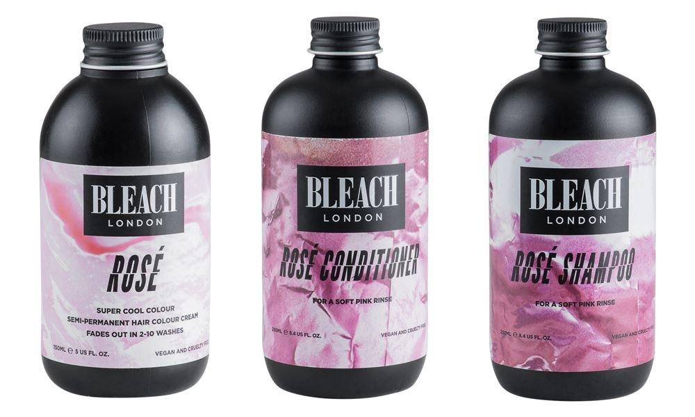 (3 PACK) Bleach London Rose Shampoo x 250ml & Bleach London Rose Conditioner x 250ml & Bleach London Super Cool Colours Rose x 150ml