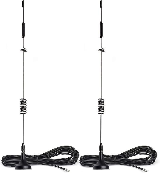Bingfu 4G LTE Antena TS9(2-Paquete) MIMO 8dBi Base Magnética para Enrutador de Punto de Acceso Móvil MiFi Stick Dongle de Módem USB Huawei ZTE Netgear ...
