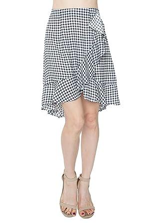 b9de75c9862e Sugar Lips Ashby Gingham Ruffle Skirt at Amazon Women's Clothing store: