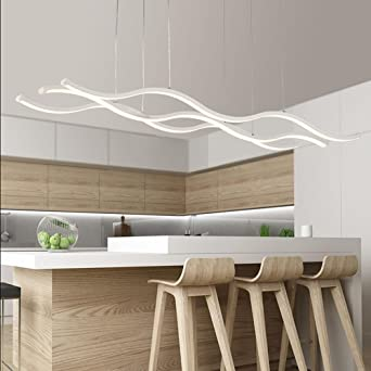 Miracle Simple Créatif Lustre à LED Moderne Lustre Lustre Cuisine Cuisine  Chambre à Coucher Bar Aluminium