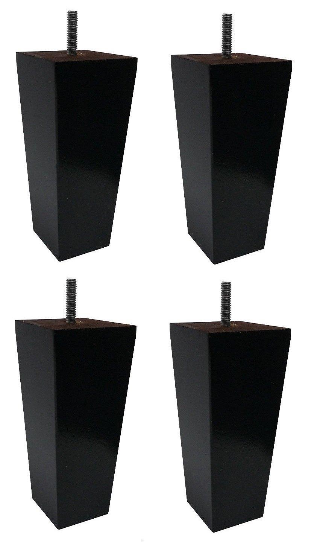 5'' Solid Wood Furniture Sofa/Chair/Ottoman Tapered Leg Espresso Finish - Set of 4 Legs