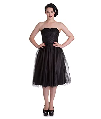 Hell Bunny Tamara Party Cocktail Prom Dress Black - UK 10 (S)