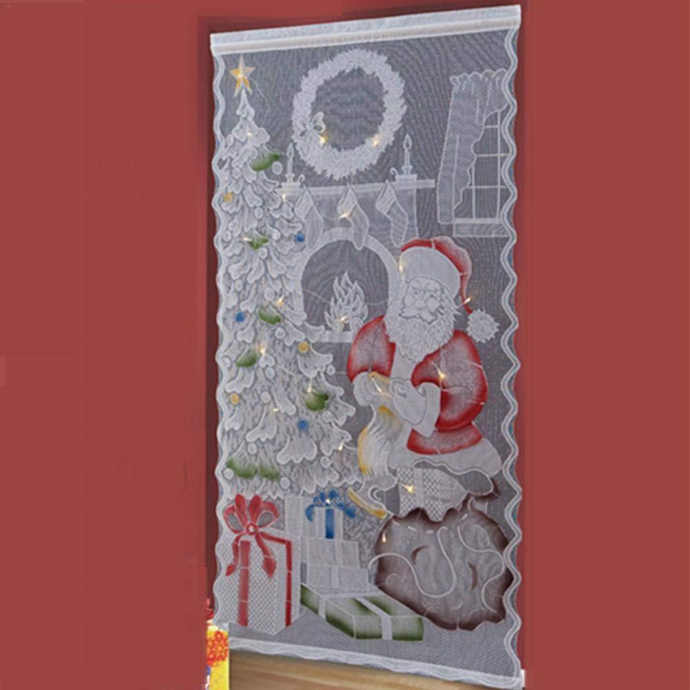 Patr/ón De Santa Claus Cortinas De Encaje Cortina De Santa Claus Navidad Santa Claus Impreso Impermeable Ba/ño Ducha Cortinas Kapokilly Cortinas De Encaje De Navidad