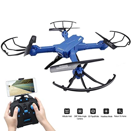 SZJJX RC Drone With Camera FPV VR Wifi Quadcopter 24GHz 6 Axis Gyro