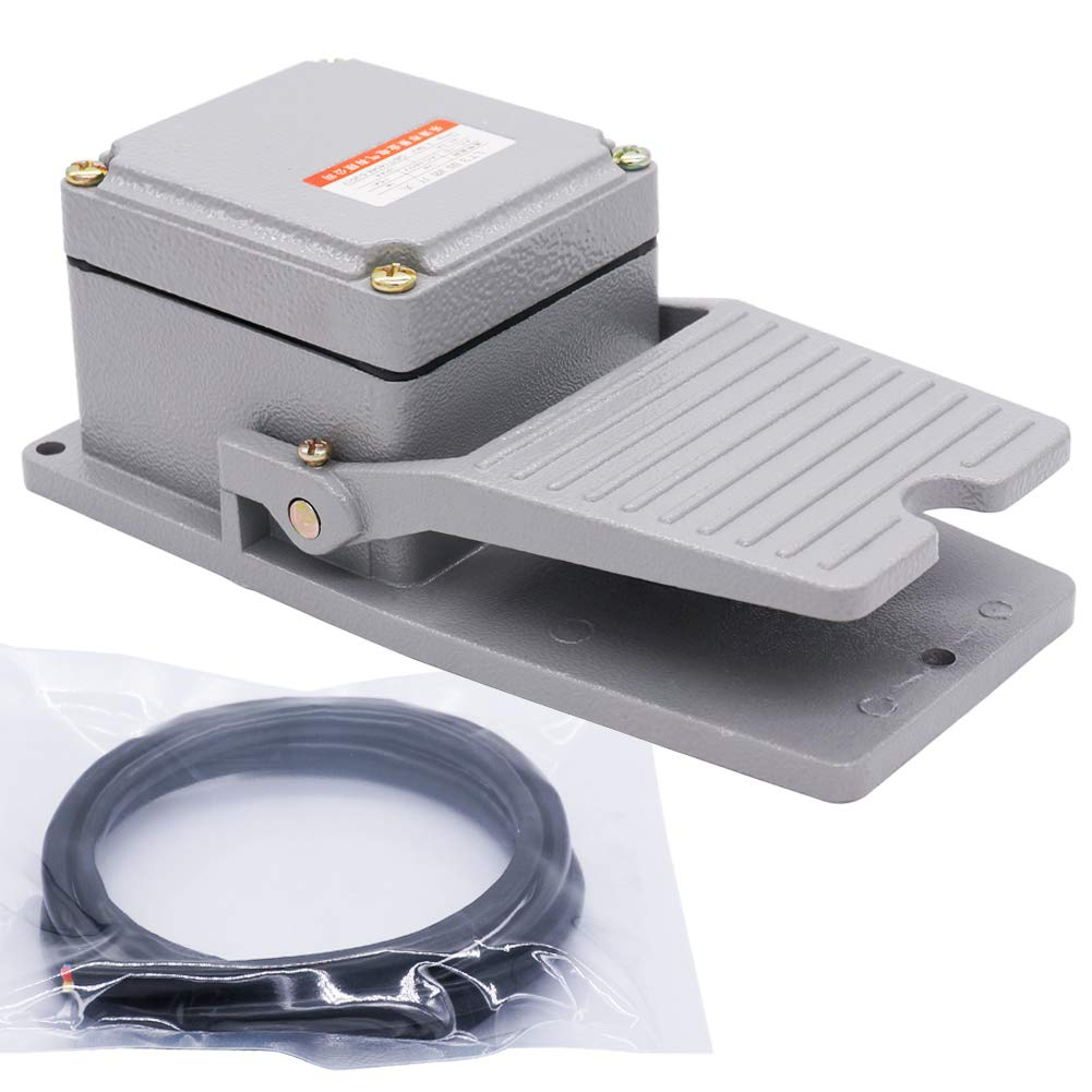 Pedal Foot Switch Heavy Duty Aluminum Cast with Guard 15A Spdt Electric Momentary Nonslip G/&W