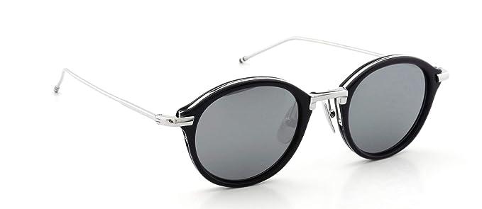 d7b747259707 Sunglasses THOM BROWNE TB 011 H-T-NVY-SLV Navy-Silver w Dark Grey ...