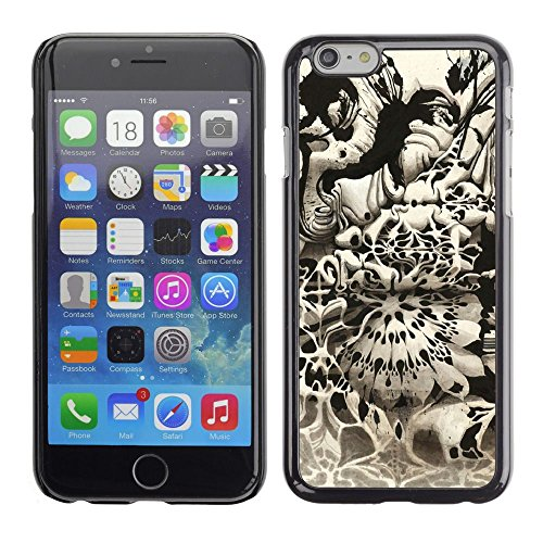 Abstract Art Black White Grey Random Modern Apple iPhone 7 (4.7 inchesHard Printing Protective Cover Protector Sleeve Shell Case Cover