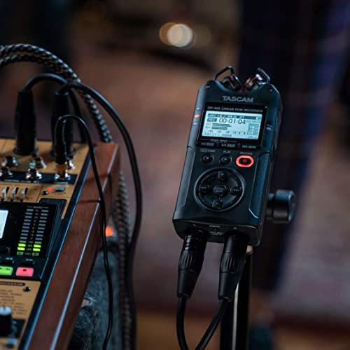 Tascam DR-40X Portable Four-Track Digital Audio Recorder