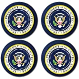 President of the United States Seal Rubber Round Coaster set (4 pack) Great Gift Idea