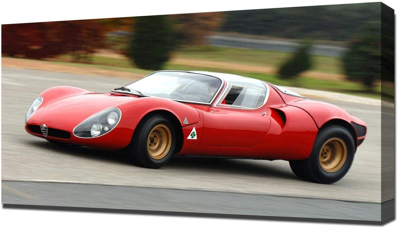 Lilarama USA 1967 Alfa Romeo Tipo 33 Stradale Prototipo V6 - Canvas Art Print - Wall Art - Canvas Wrap
