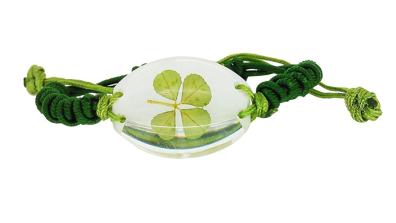 Amazoncom Celtic Real Four Leaf Clover Unisex Bracelet with Gift