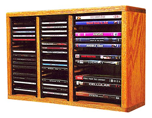 Wood Shed The 312-1 CD+DVD Solid Oak CD & DVD Storage Cabinet, ()