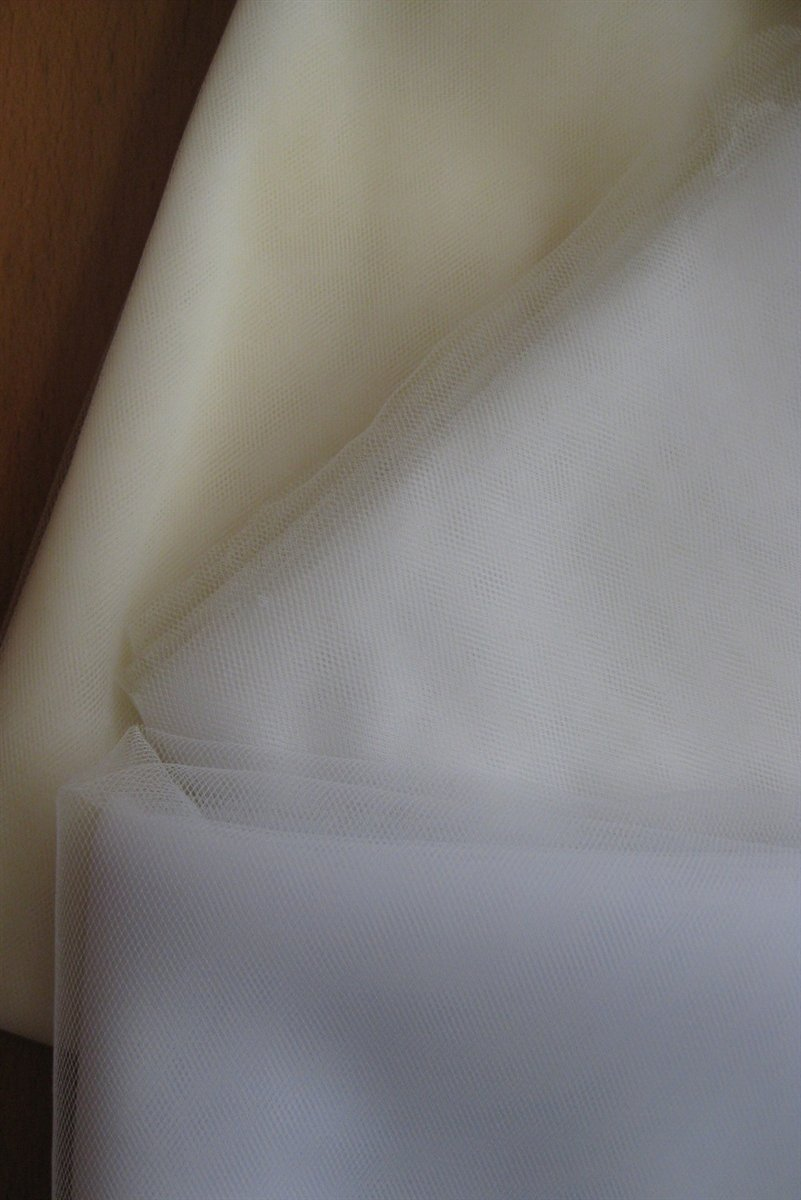 White Tulle Fabric 5 Yd Soft Illusion Bridal Wedding Craft DIY Supplies