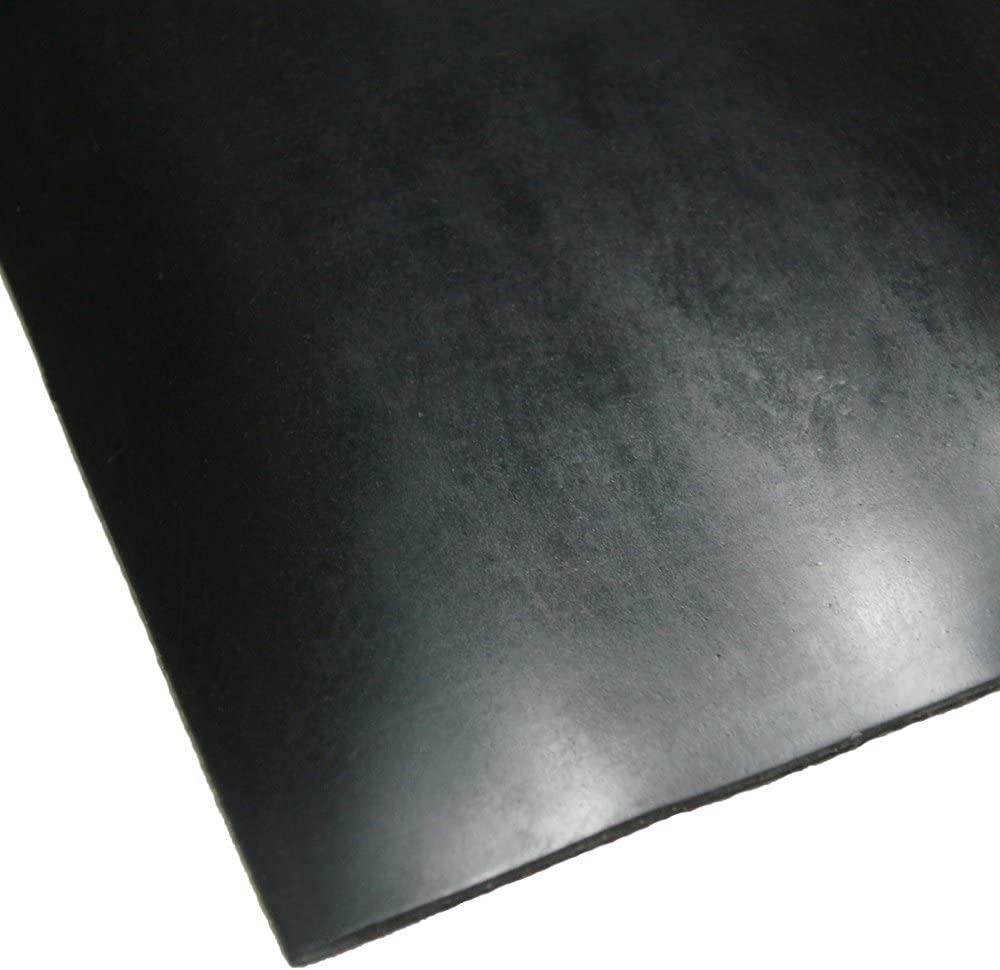 Rubber-Cal Cloth Inserted SBR Rubber Sheet 1//8 Thick Black 36 Width x 12 Length 70A