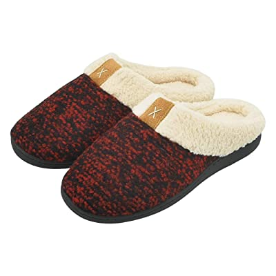 Women's Comfort Memory Foam Slippers Winter Warm House Slipper Non-Slip Rubber Soles Breathable Plush Upper Fleece Lined Slippers,Home Shoes w/Indoor | Slippers
