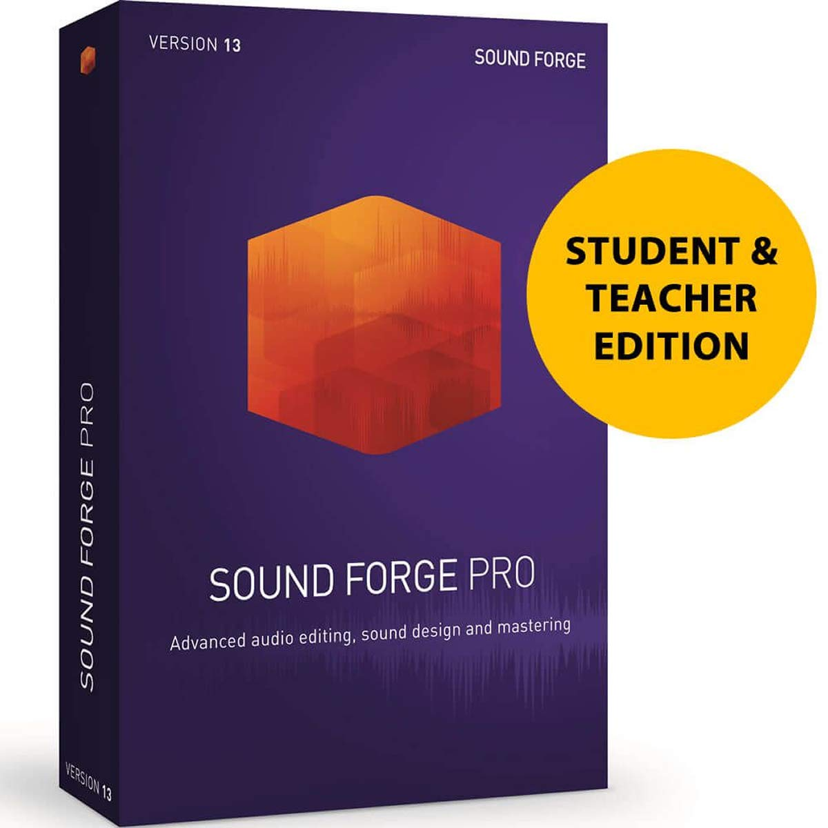 MAGIX Sound Forge Pro 13 for Students and Teachers - Audio Editing, Recording, Restoration and Mastering