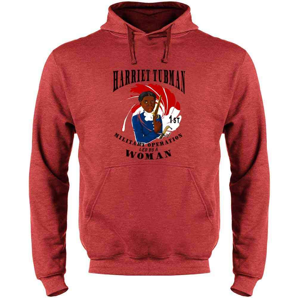 Pop Threads Harriet Tubman 1st Female Led Military Operation Mens Fleece Hoodie Sweatshirt