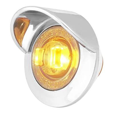 "GG Grand General 75251 Amber/Clear LED Light (1"" Mini 1 Pl. Bezel and Visor): Automotive"