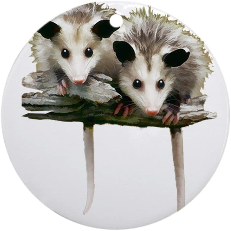 CafePress Baby Possums On A Branch Ornament (Round) Round Holiday Christmas Ornament